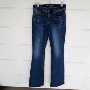 American Eagle Kick Boot Blue Jeans Stretch 6